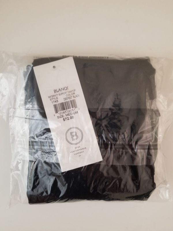 BLANQI Maternity Belly Support Tanktop Medium Black