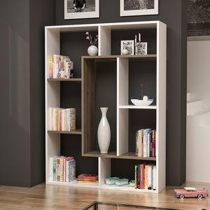 Bookcase/ modern bookshelf-white/naturel for Sale in Cypress, TX