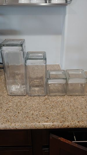 Glass triangular storage containers for Sale in San Diego, CA