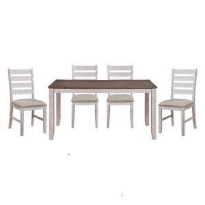 NEW IN THE BOX. , 5PC DISTRESSED Grayish white and Brown DINING ROOM SETSKU# 5769W-60*5T for Sale in Santa Ana, CA