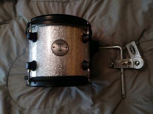 Mapex voyager 8x7 tom with mapex tom arm silver spark as is for Sale in Batavia, OH