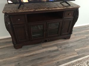 TV stand marble for Sale in Arlington, TX