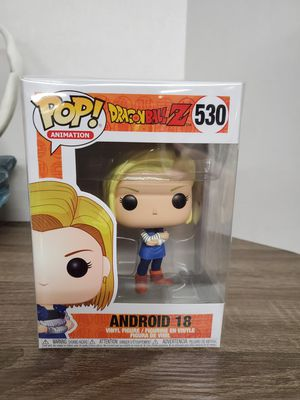 Japanese anime funko pop dragon ball z 530 android 18 toy Figure for Sale in Rosemead, CA