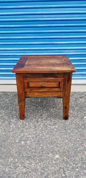 """Rustic wood nightstand or side table. Heavy and well made. Measures approx: 24"""" wide x 24"""" deep for Sale in Phoenix, AZ"""