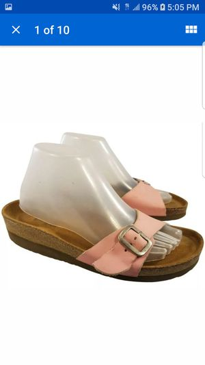 SIZE EUR 41/10 WOMAN NAOT FOOTWEAR PINK LEATHER SLIDES for Sale in Las Vegas, NV