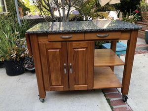 "Granite top kitchen island 45""x24""x36"" for Sale in Los Angeles, CA"