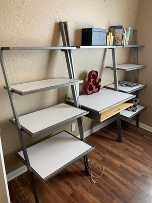 Desk with book shelf's, Pottery Barn, white for Sale in Austin, TX