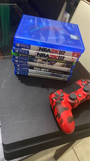 Ps4 Slim / With Games Collection for Sale in Fort Lauderdale, FL