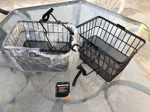 2 Sunlite bike baskets removable never used bicycle for Sale in San Diego, CA