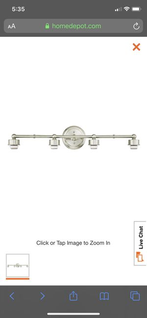 Set of 2 Brushed Nickel Wall Mount Bath Light fixture for Sale in Pompano Beach, FL