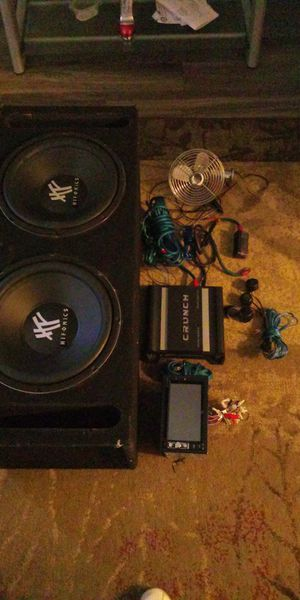 Complete Car Audio System Hifonics 12' Speakers, 1500 Watts Amp for Sale in Rancho Cucamonga, CA