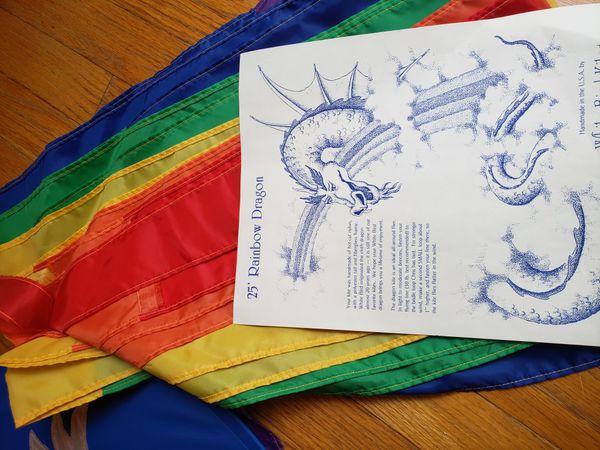 25' Rainbow Dragon Kite