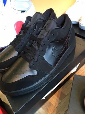Jordan 1 low triple black size 12 for Sale in Bridgeton, MO