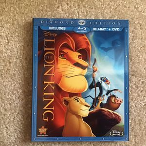 Disney Lion King Diamond Edition Blu-ray for Sale in Marietta, GA