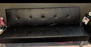 Black leather futon for Sale in Sanford, FL