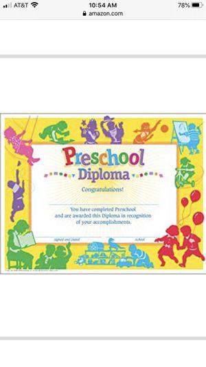 Preschool certificate pack of 30 for Sale in Miami, FL