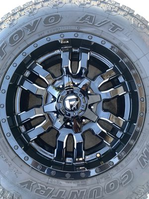 Toyo AT Tires & Fuel Sledge Rims for Sale in Riverside, CA