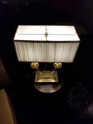 Gold Desk Lamp 23.5 Tall 17.5 Wide 8.5 Deep for Sale in Las Vegas, NV