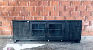 Black TV Stand Cabinet with Doors and Shelves for Sale in Scottsdale, AZ
