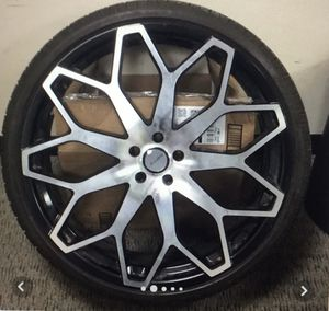 """24"""" Elure Rims w/Tires for Sale in Hickory Hills, IL"""