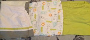 Set of 2 Circo Fitted Crib Sheets & Crib Skirt - Jungle Themed - Never Used! for Sale in Traverse City, MI