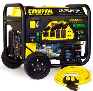 Champion Dual Fuel Electric Start Generator Like New for Sale in Seattle, WA