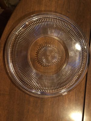Glass cake plate for Sale in Centennial, CO