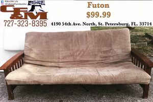 Wooden/Metal Futon ONLY $99.99 (WE DELIVER) for Sale in St. Petersburg, FL