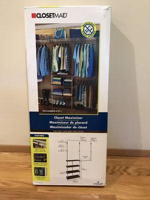 ClosetMaid 4ft. - 8ft. Laminate Closet Maximizer in Dark Cherry for Sale in Lynnwood, WA