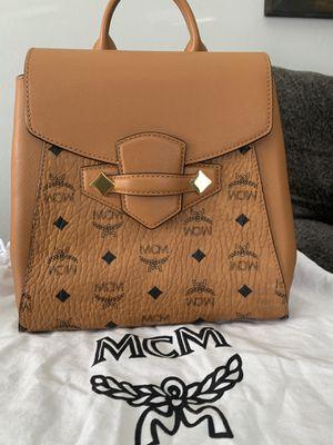 MCM - Essential Backpack in Visetos Original w Dust Bag for Sale in Whittier, CA