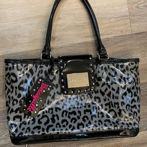 Betsey Johnson Black And Gray Cheetah Print Tote for Sale in Pittsburgh, PA