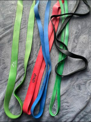Set of 5 pull up bands / resistance bands for Sale in Hawthorne, CA