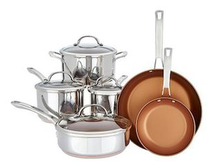 Cook's Essentials Elite SS Clad 10-Piece Cookware Set for Sale in Whittier, CA