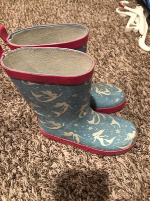 Mermaid rain boots for Sale in San Jacinto, CA