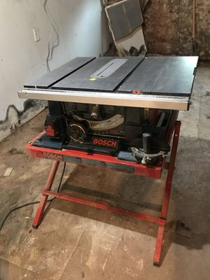 Bosch 4000 Table Saw w/ stand for Sale in Baltimore, MD