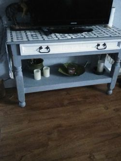 TV stand, console, buffet table, solid wood farmhouse charm for Sale in Port Orange,  FL