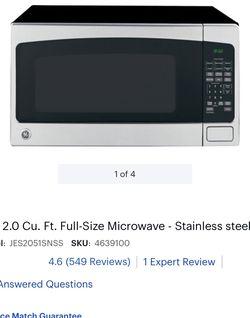 GE 2.0 CU FT. 1200 WATT MICROWAVE!!!! for Sale in Reedley,  CA