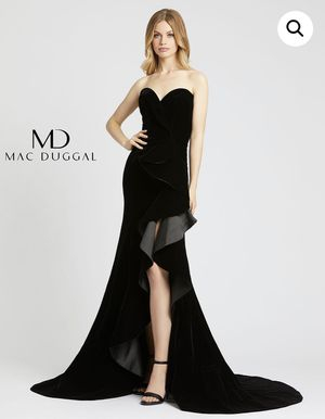 Mac Duggal Black Evening Gown /Fancy Dress Size 14 for Sale in Glendale, CA