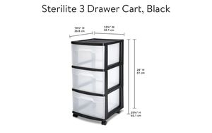 Sterilite 3 drawer cart storage containers NEW for Sale in Fremont, CA