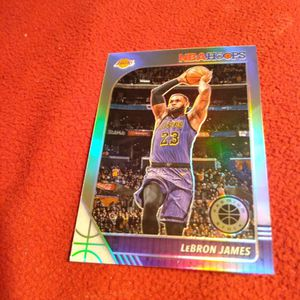Lebron James NBA Hoops Premium Stock Silver Holo Parallel Basketball Card for Sale in Houston, TX
