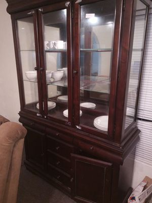 Cherry oak china cabinet for Sale in Baytown, TX