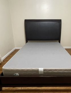 Ashley Furniture Queen Espresso Bed Frame And Box Spring for Sale in Salt Lake City,  UT