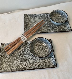 New Sushi place setting for two for Sale in Fort Lauderdale, FL