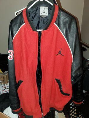 Mens Retro Jordan Leather Varsity Jacket for Sale in Columbus, OH
