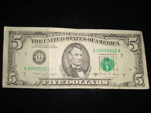 $5 Low Serial Number 1988A for Sale in Kalamazoo, MI