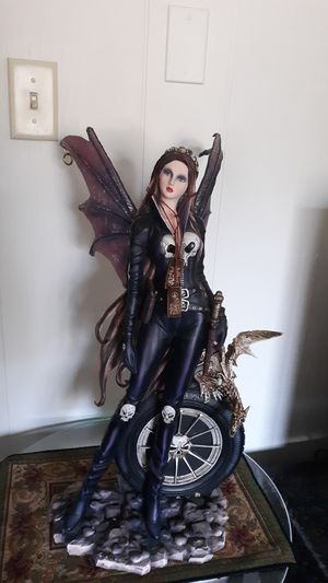 Gothic Biker Fairy Statue for Sale in Manchester, PA
