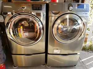 Samsung washer and Gas dryer W/Steam option on both for Sale in San Jose, CA