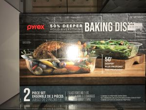 Pyrex baking dish 2 pc set on sale at The House Depot for Only $14.99 Retail is $36 in other stores for Sale in Pasadena, CA