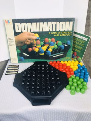 Vintage 1982 Milton-Bradley Domination Board Game for Sale in Pawtucket, RI