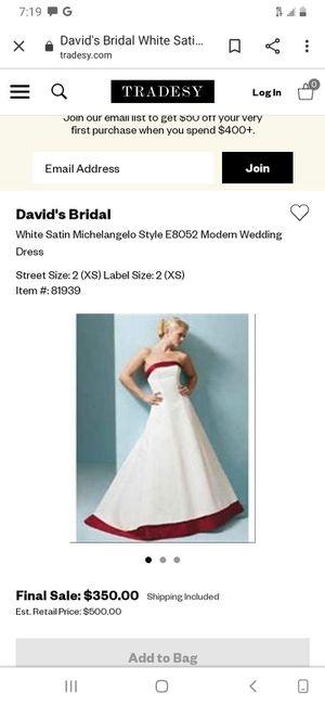 David Bridal Wedding Dress for Sale in LAKE TAPWINGO, MO